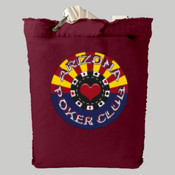 Az Poker Club Tote Bag - Authentic Pigment 14 oz. Direct-Dyed Raw-Edge Tote